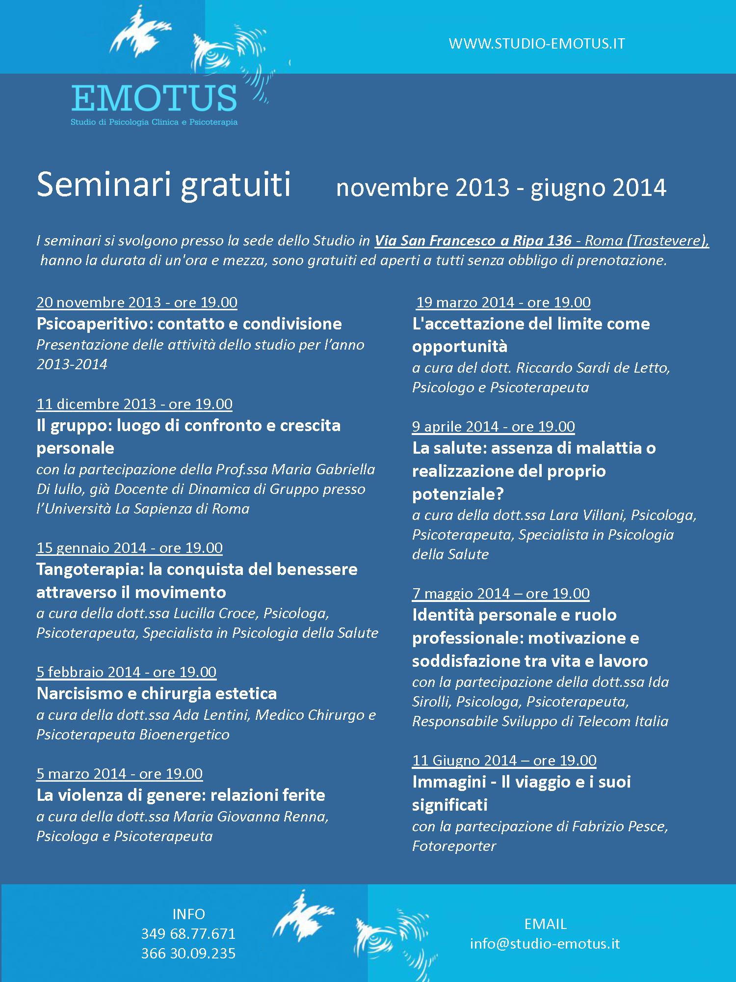 Studio Emotus Psicologia E Promozione Della Salute Roma Centro